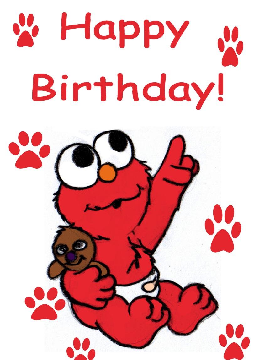 Elmo Birthday Cards Free Printable Birthday Cards Printbirthday Cards