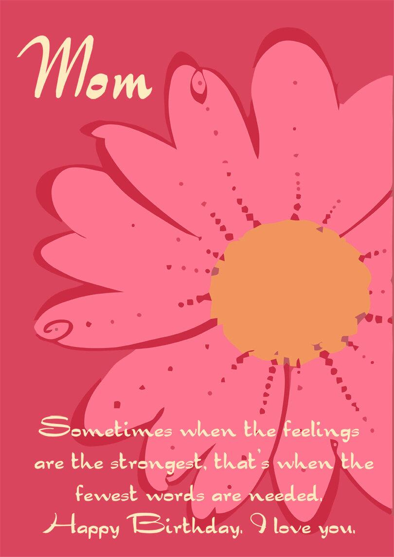 Printable Birthday Cards For Mom Printbirthday Cards