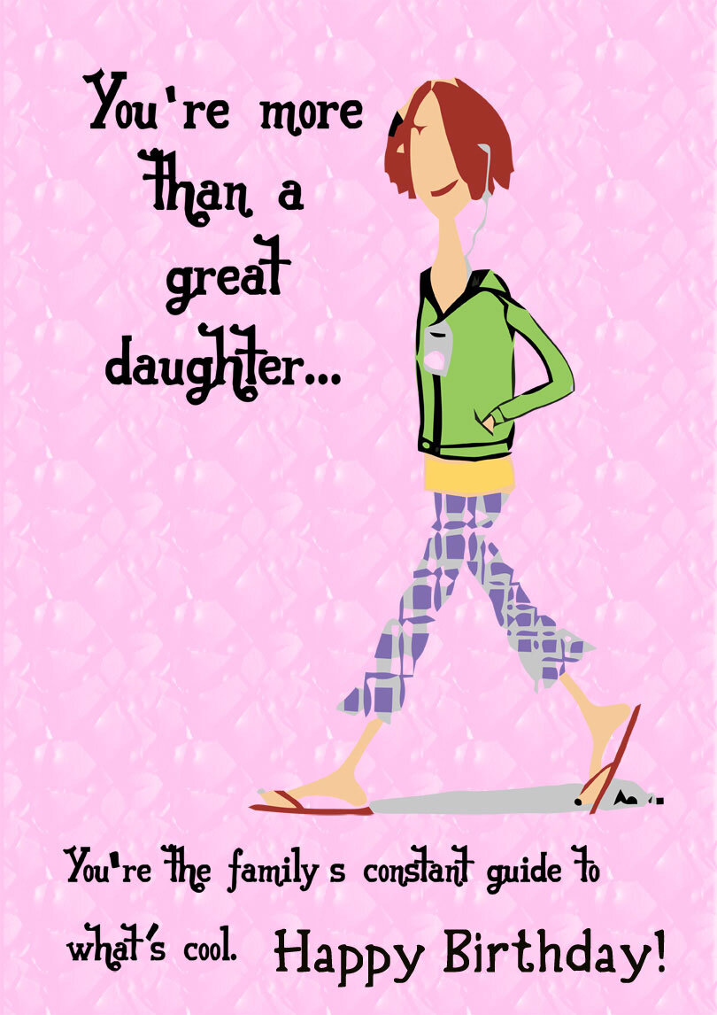 Daughter S Birthday Cards Printbirthday Cards