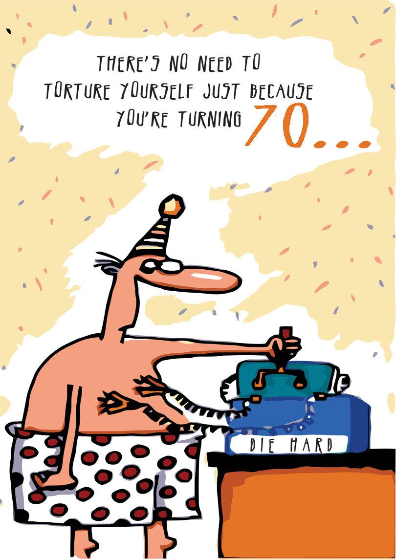 70th Birthday Card Printbirthday Cards