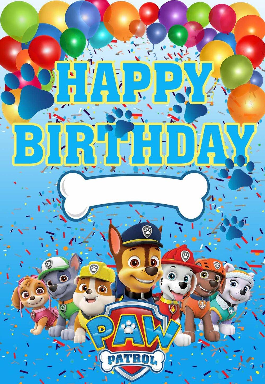 Paw Patrol Printable Birthday Cards Printbirthday Cards