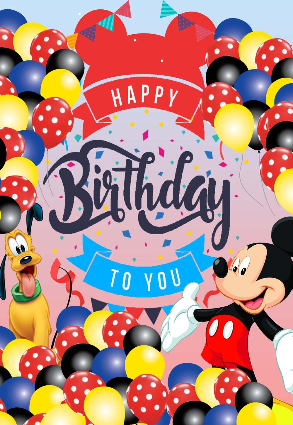 Mickey Mouse 4th Birthday Happy Birthday Age 4 Edible Cupcake Topper Decoration Ebay