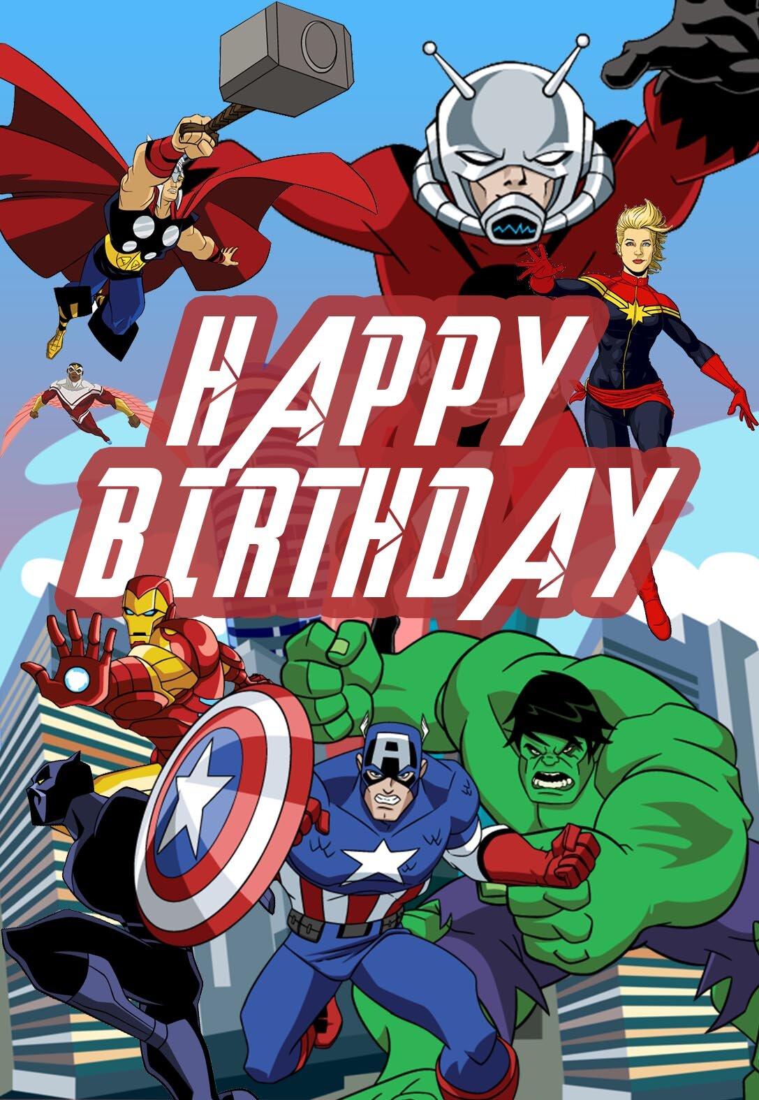 Avengers Printable Birthday Cards — PRINTBIRTHDAY.CARDS