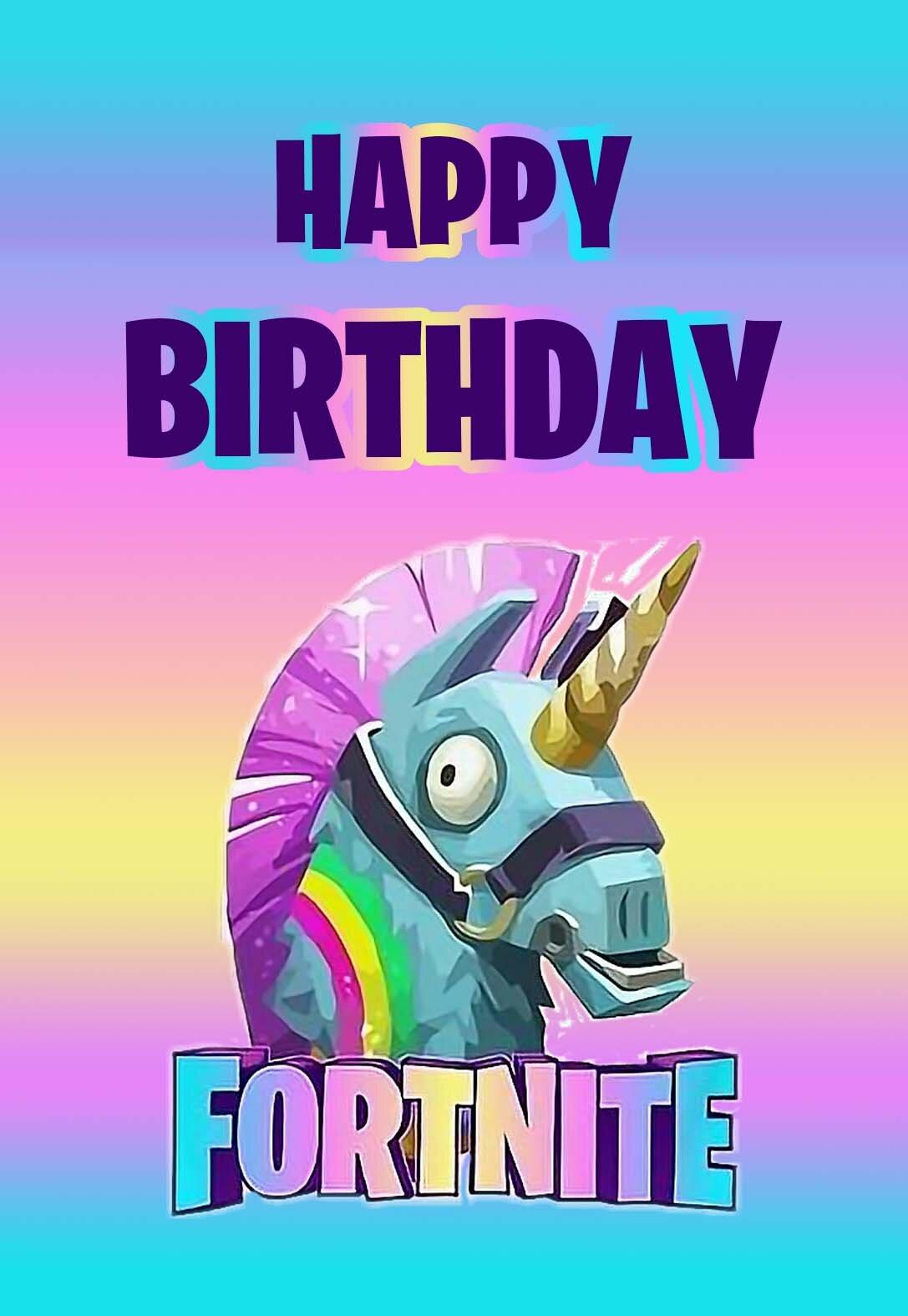 Fortnite Printable Birthday Cards — PRINTBIRTHDAY.CARDS