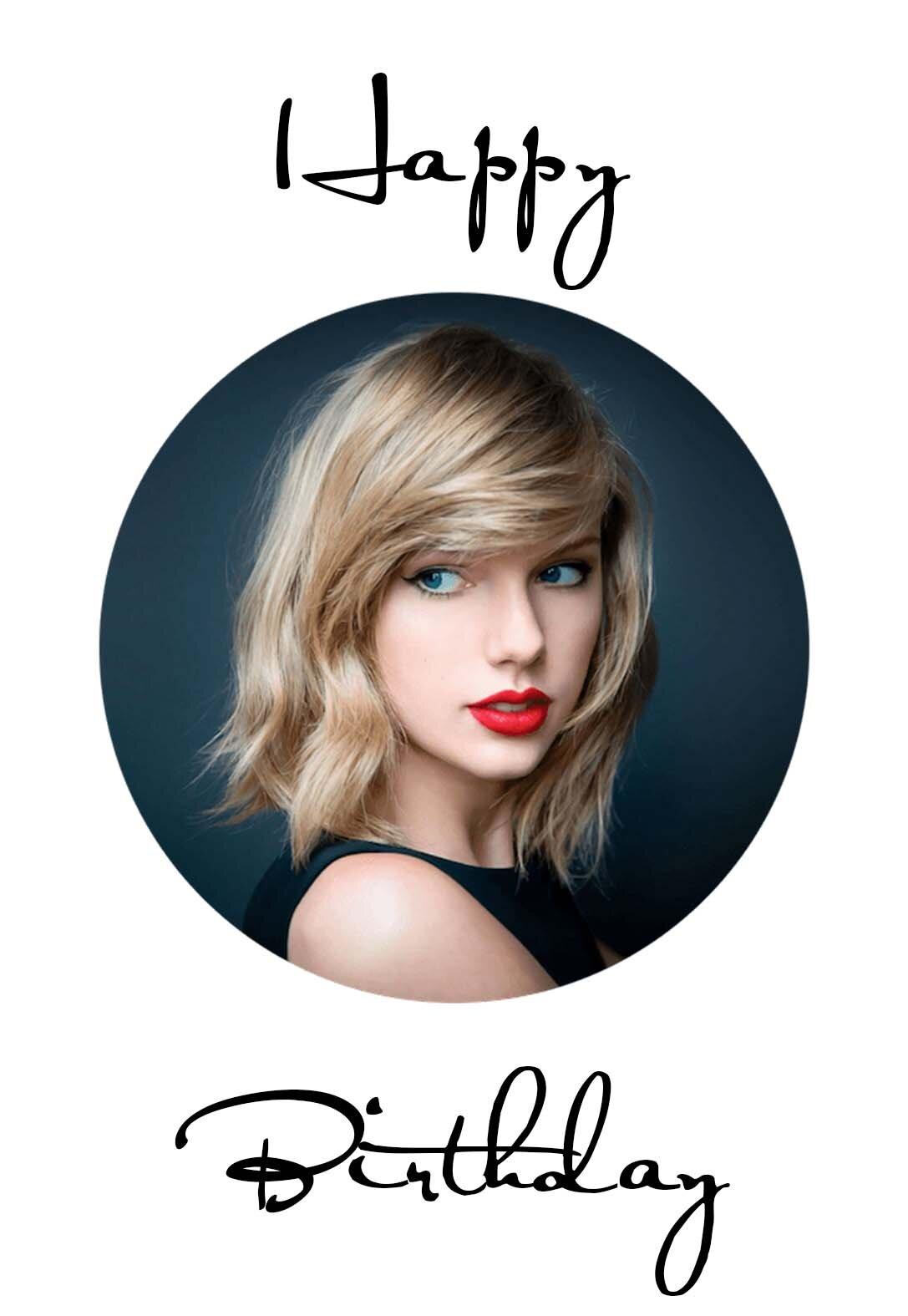 Taylor Swift Printable Birthday Cards Printbirthday Cards
