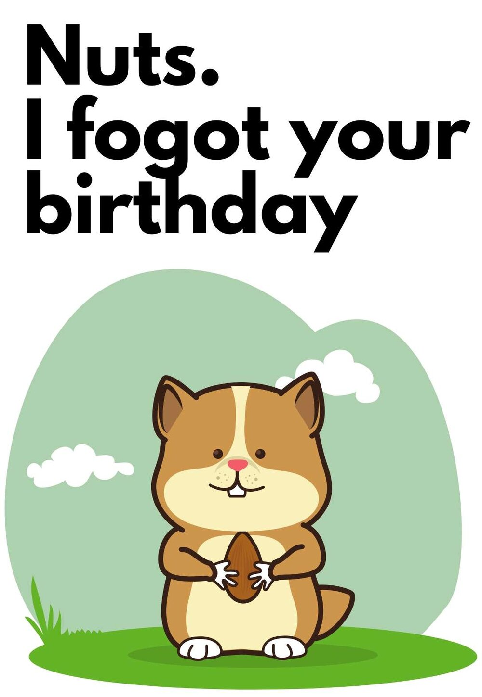 Free Printable Belated Birthday Cards Printbirthday Cards