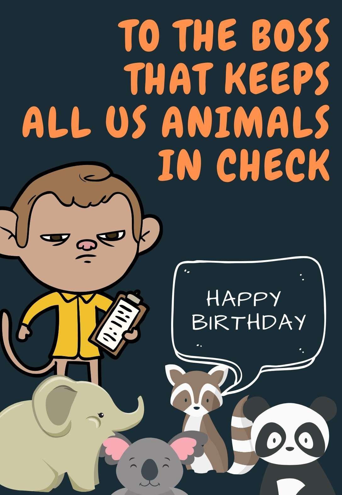 Boss Printable Birthday Cards Printbirthday Cards