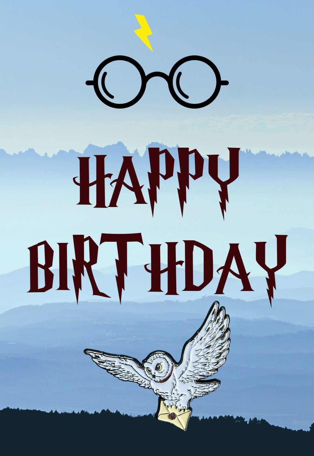 Harry Potter Birthday Cards Printbirthday Cards