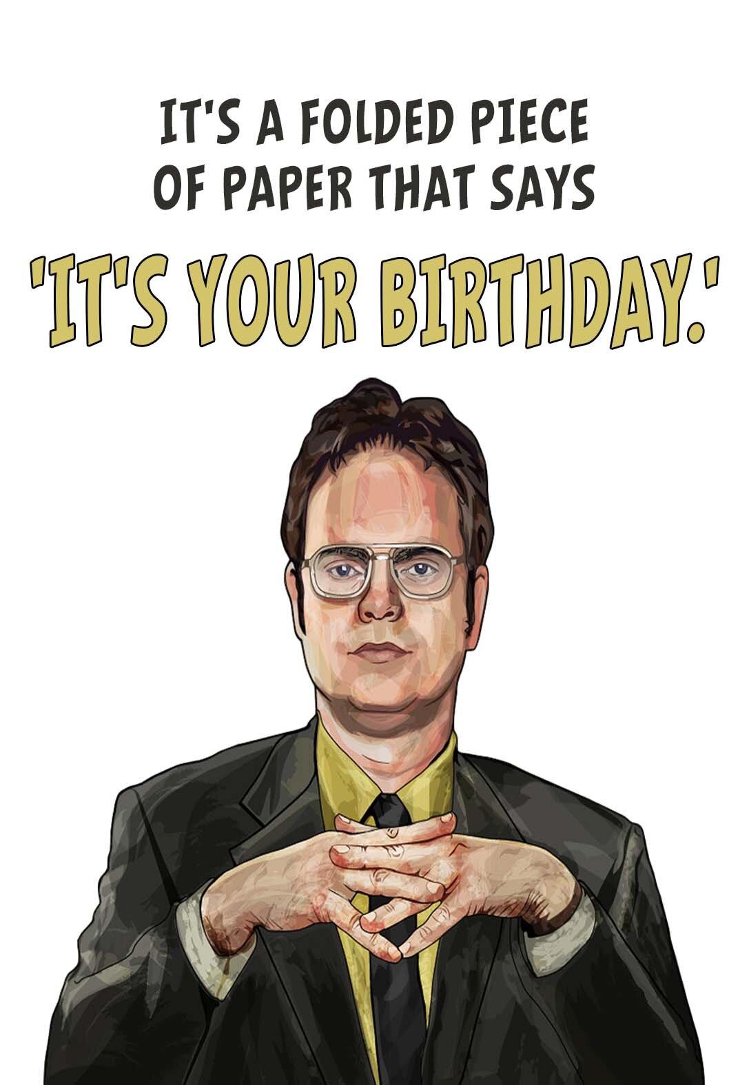 The Office Printable Birthday Cards Printbirthday Cards