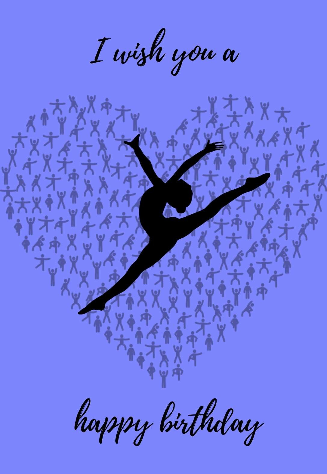 Gymnastics Printable Birthday Cards — PRINTBIRTHDAY.CARDS