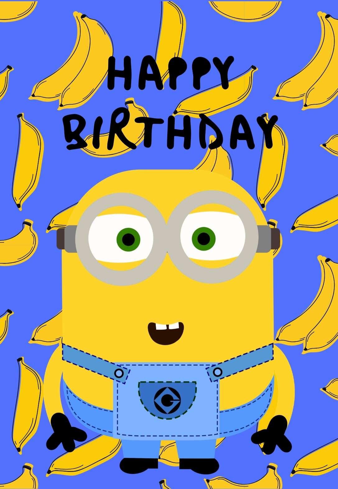 Printable Minions Birthday Cards Printbirthday Cards
