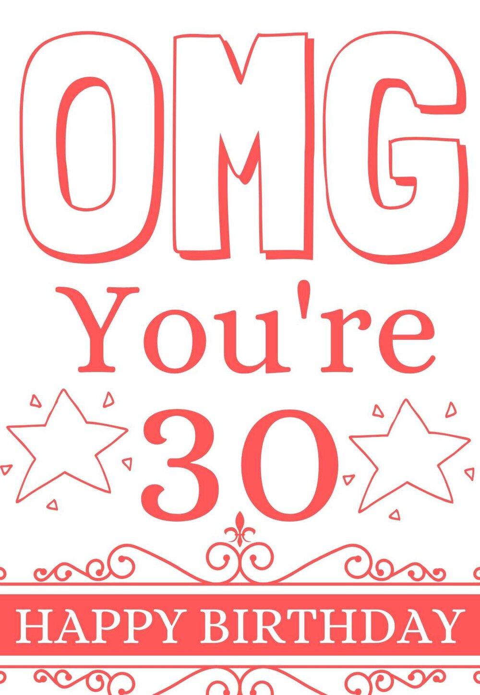 The Best Printable 30th Birthday Cards Free Printbirthday Cards