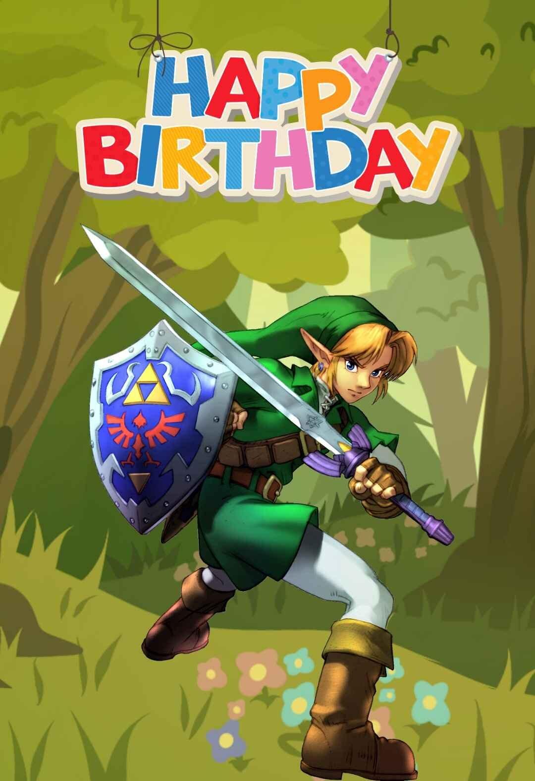Zelda Printable Birthday Cards — PRINTBIRTHDAY.CARDS