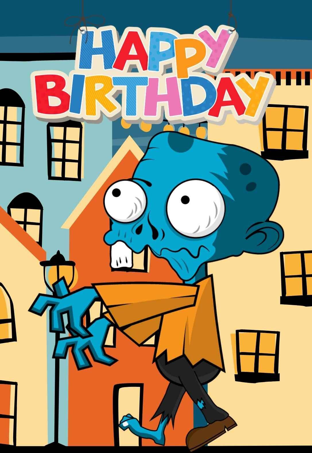 Zombie Printable Birthday Cards — PRINTBIRTHDAY.CARDS