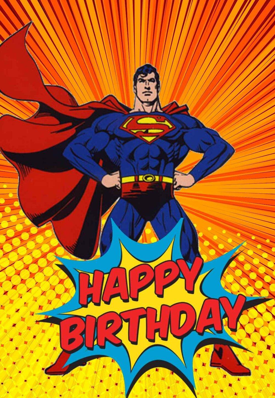 Free Printable Superhero Birthday Cards - Many Categories Pertaining To Superman Birthday Card Template