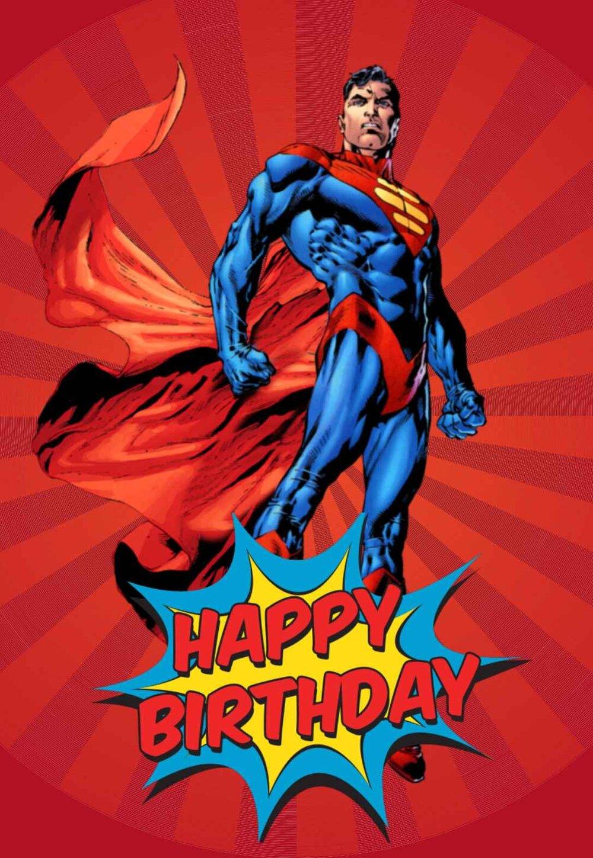 Free Printable Superhero Birthday Cards - Many Categories Within Superman Birthday Card Template