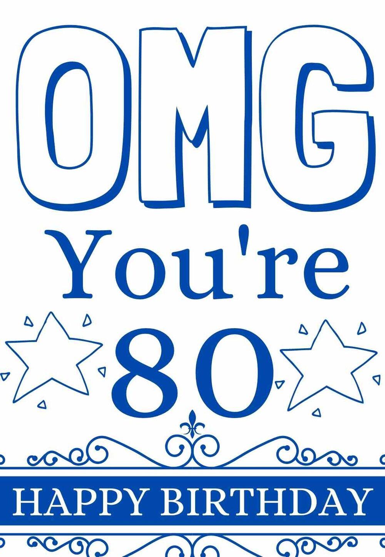 The Best Printable 80th Birthday Cards Free Printbirthday Cards