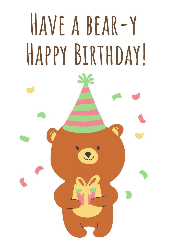 Animals Free Printable Birthday Cards Printbirthday Cards