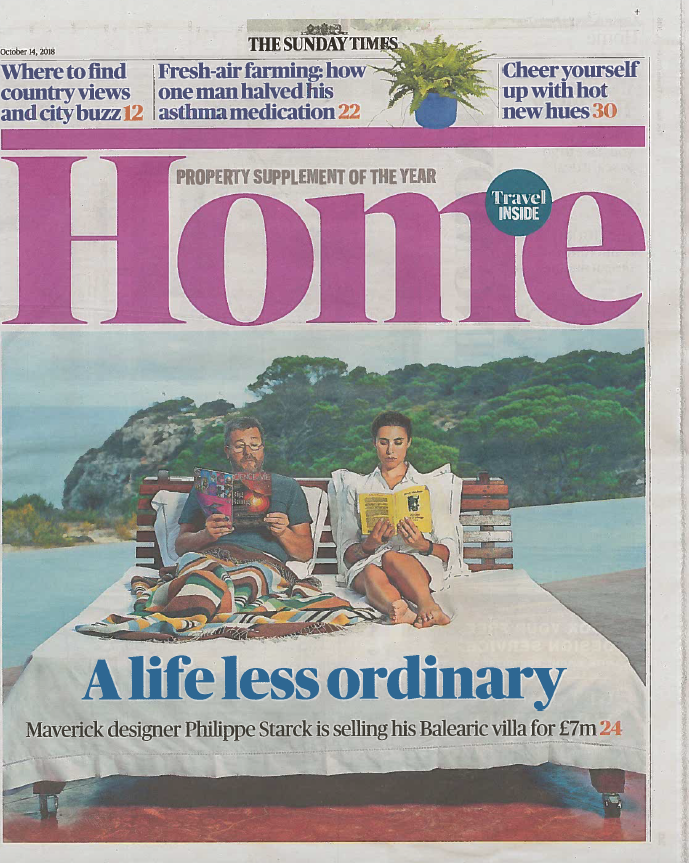 Sunday Times Home - October 2018  'Dare to Dream' - featuring Emma's comment about what she would do with £10,000. The question was put to the country's top architects & designers and the article includes the ideas given.