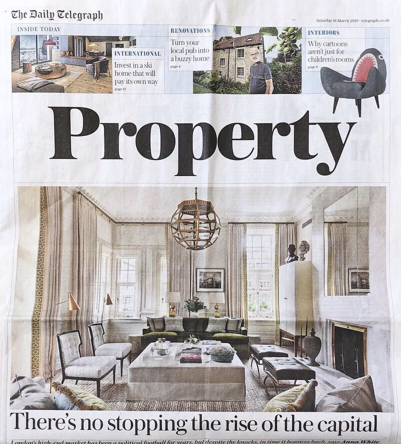 Saturday Telegraph - March 2019  One of our Chelsea projects takes centre stage in an article about pop art in interiors.