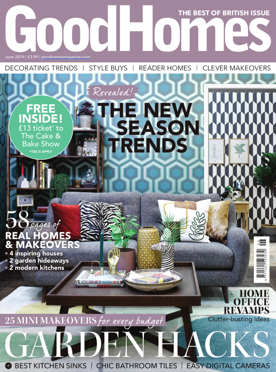 Good Homes - June 2019   Featuring the KDLoves roomset at this year's Ideal Home Show, Olympia.