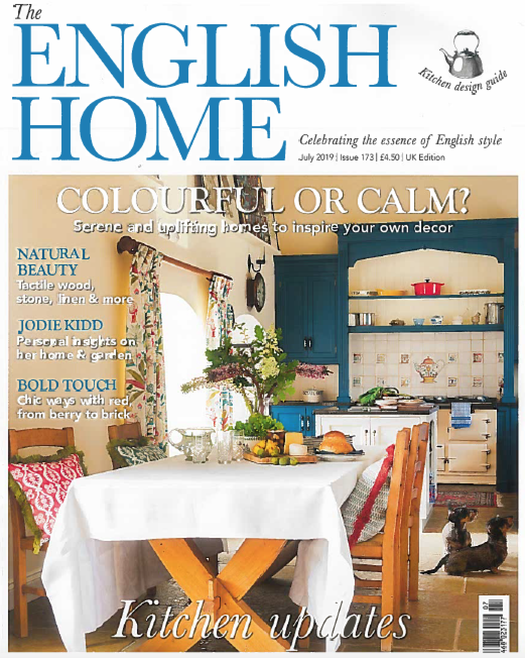 The English Home - July 2019  Featuring an 8-page article on Emma's North Norfolk home.