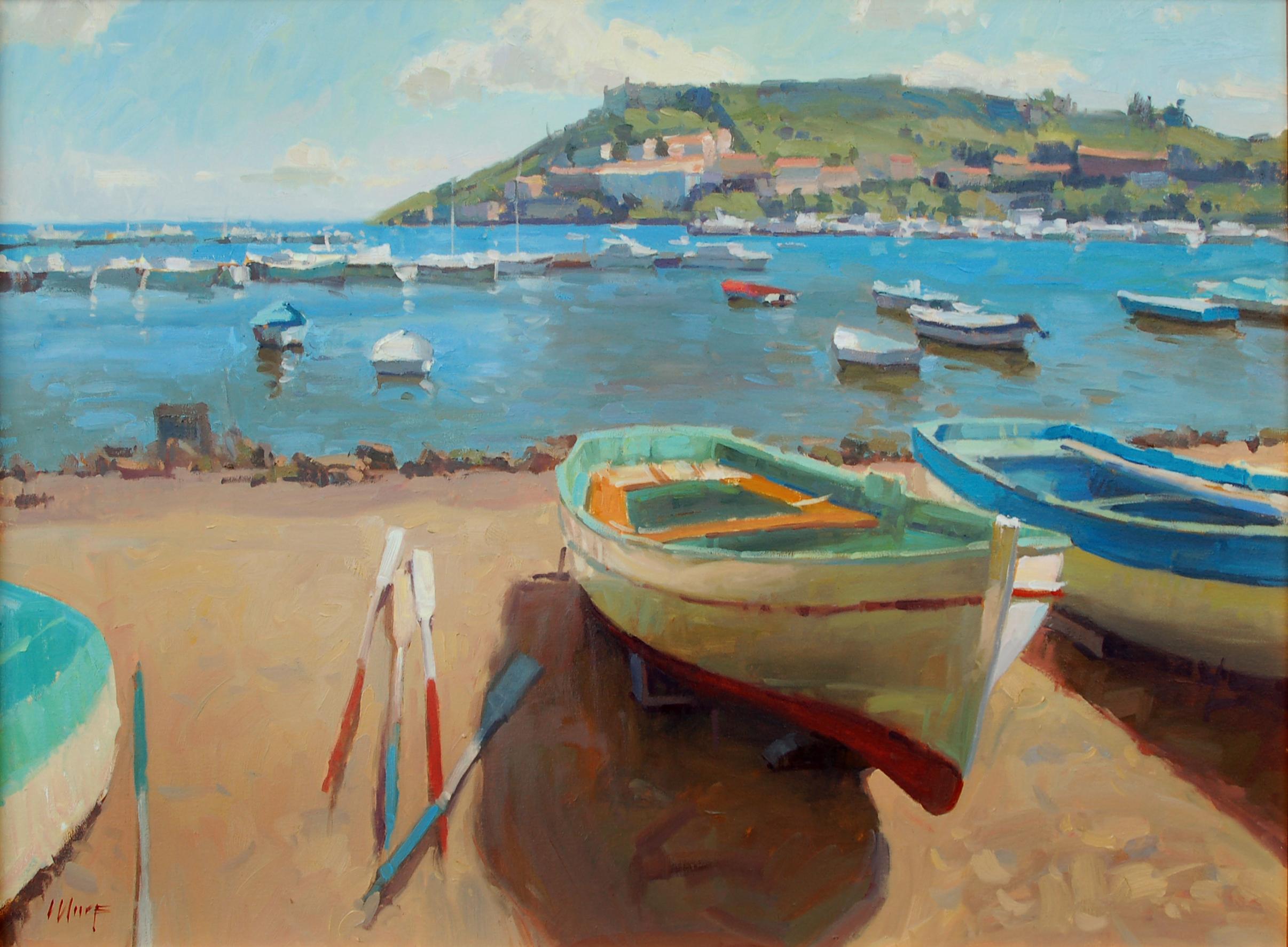 Boats on some Italian beach