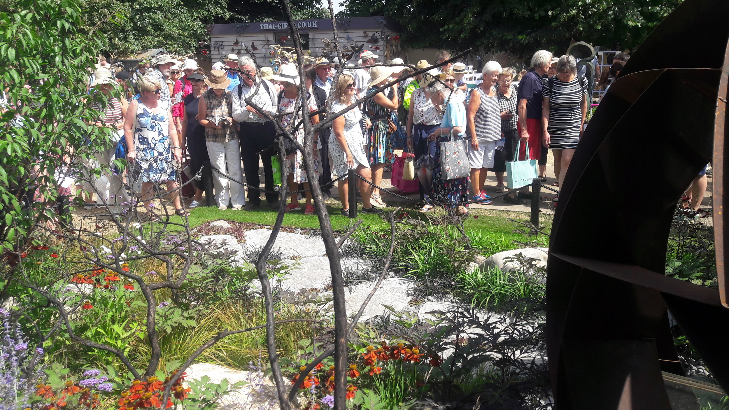 The garden was very well received by the general public.