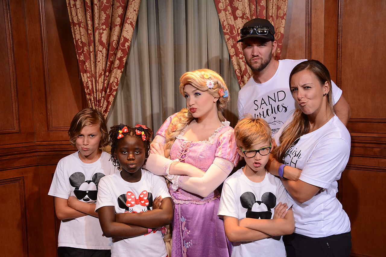 Adventure is out there! - We may not be the coolest family ever but we know how to pose with Princesses!We LOVE Disney, Marvel, and Star Wars, and on any random Friday night you'll find us at home, on the couch with pizza, popcorn and snacks having a family movie night!