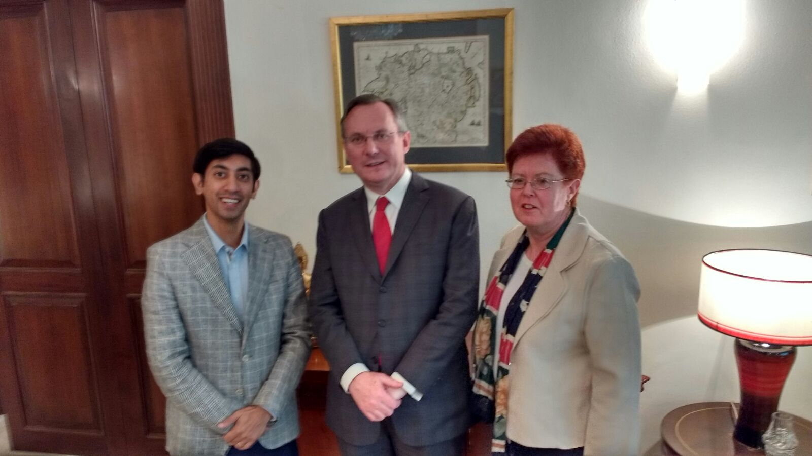 Mr Saurav Sanyal, Director Microbide India, Mr. Brian McElduff, Ireland's Ambassador to India and Microbide CEO, Mary Skelly