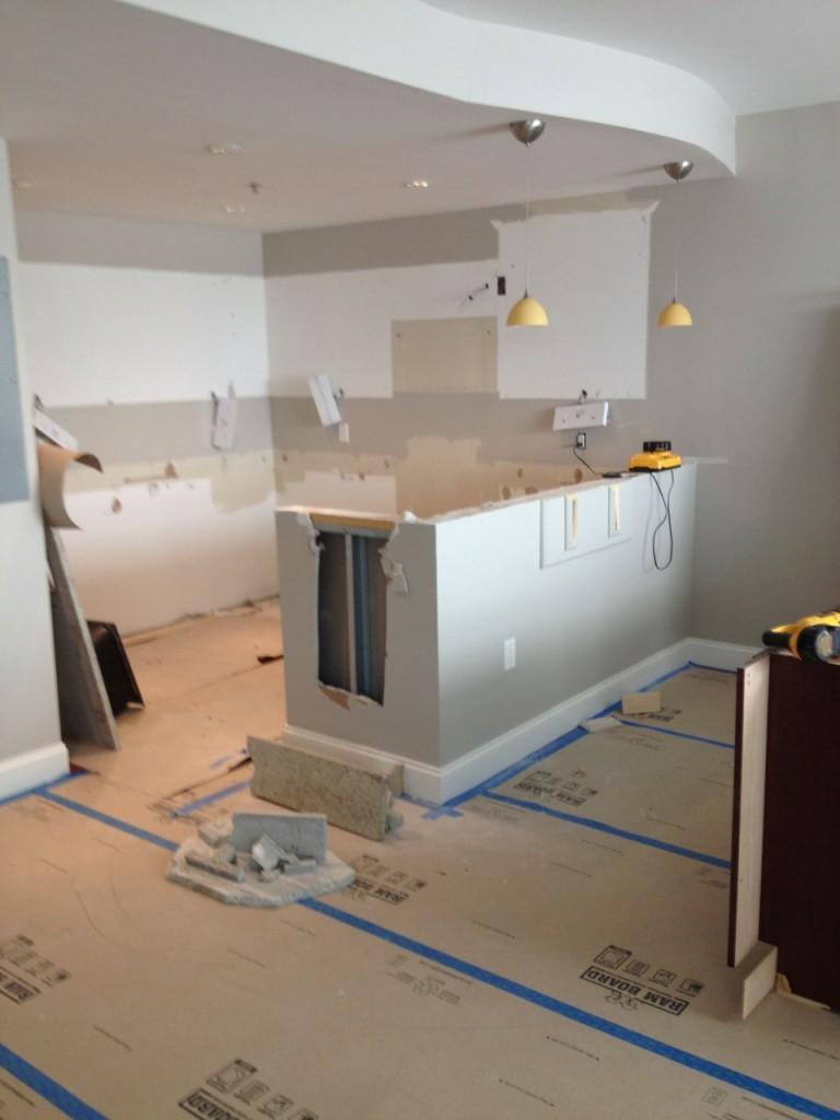 kitchen remodel in progress 1