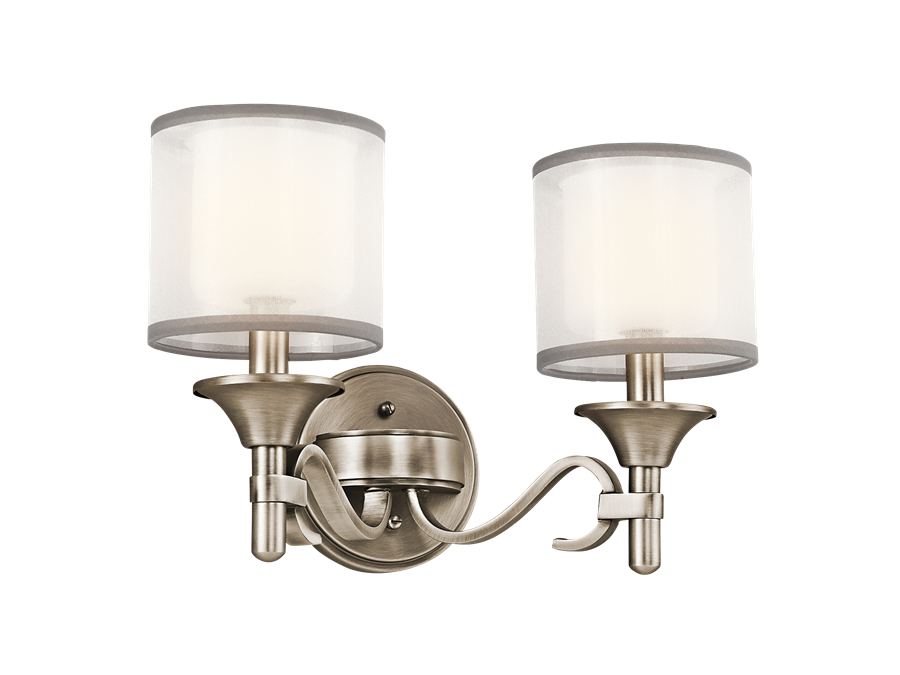 Lacey Collection 2 Light Bath Light in Antique Pewter