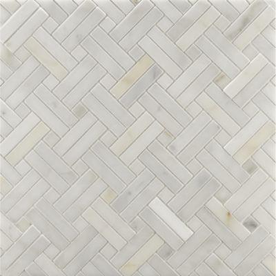 CalacattaBorghini_Mosaic_DiagonalWeave_Honed