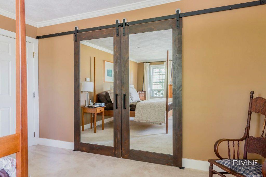 dover bathroom design - barn doors