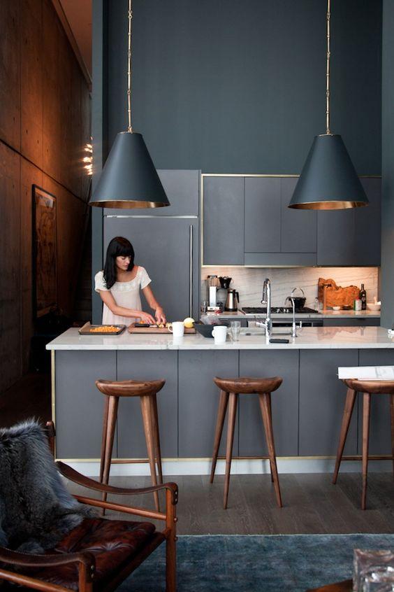 Eye swoon modern gray kitchen design