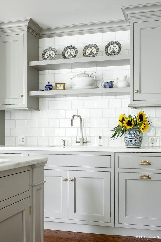 heidi piron design - gray cabinets