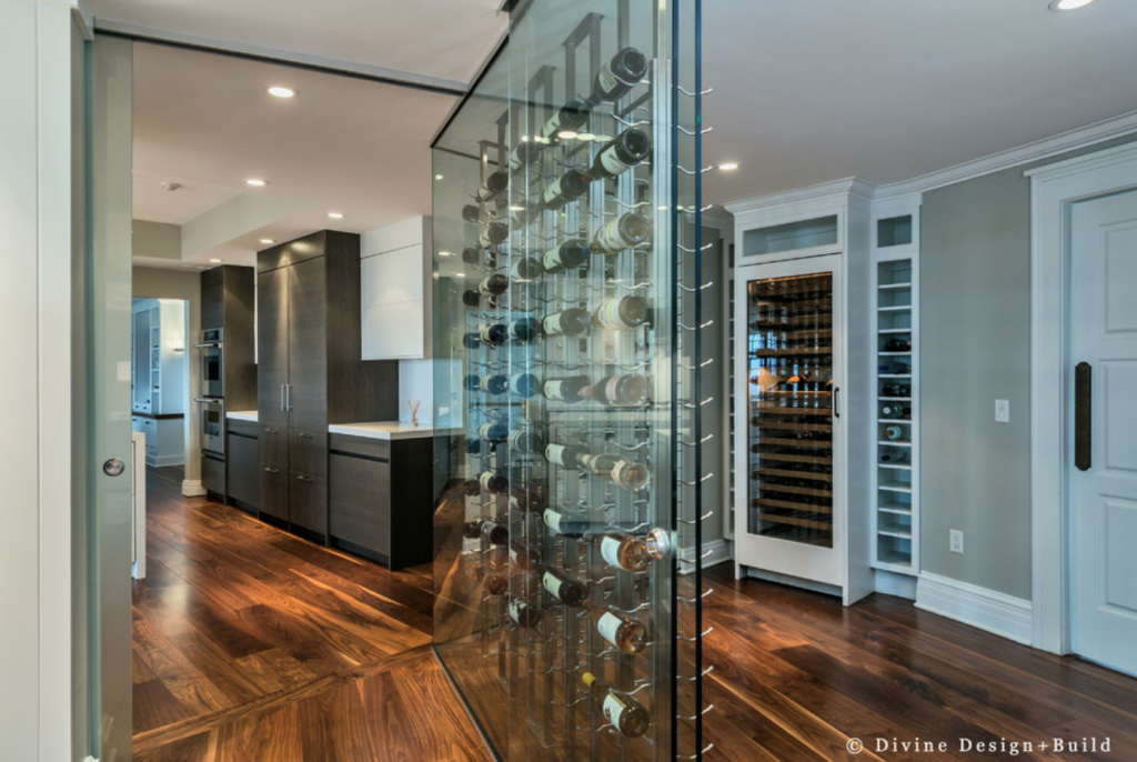 built in wine storage, entertaining home