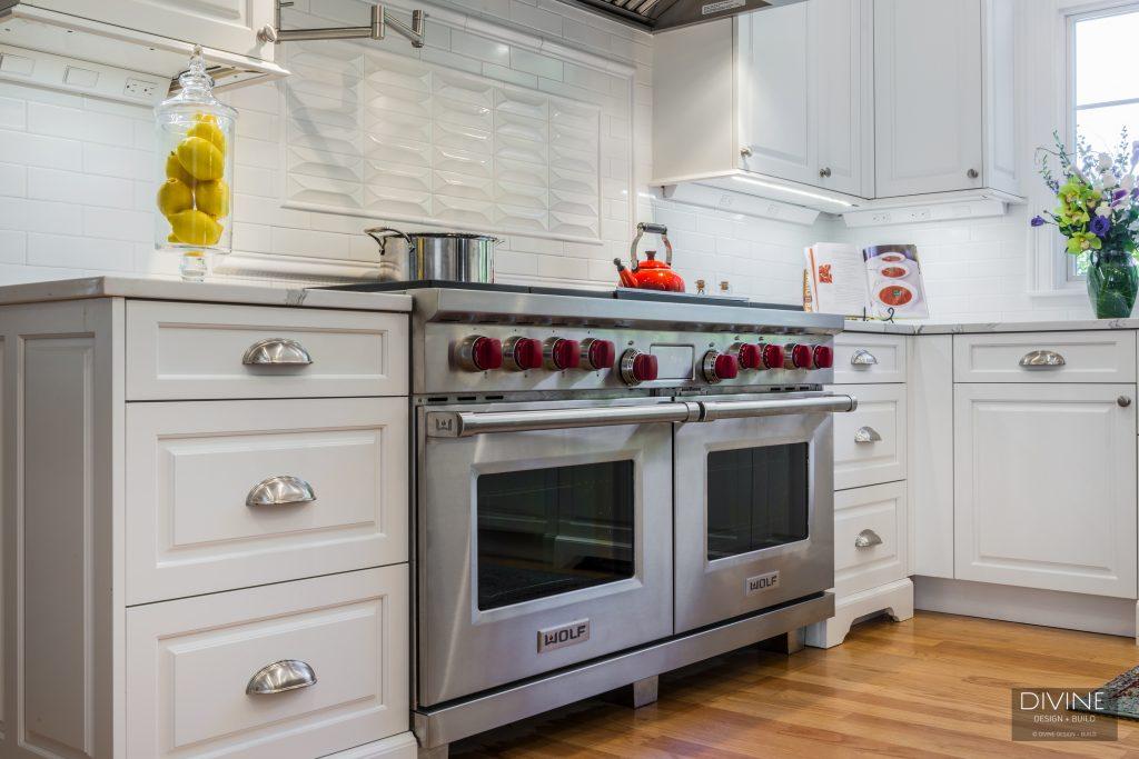 wolf range - family kitchen renovation