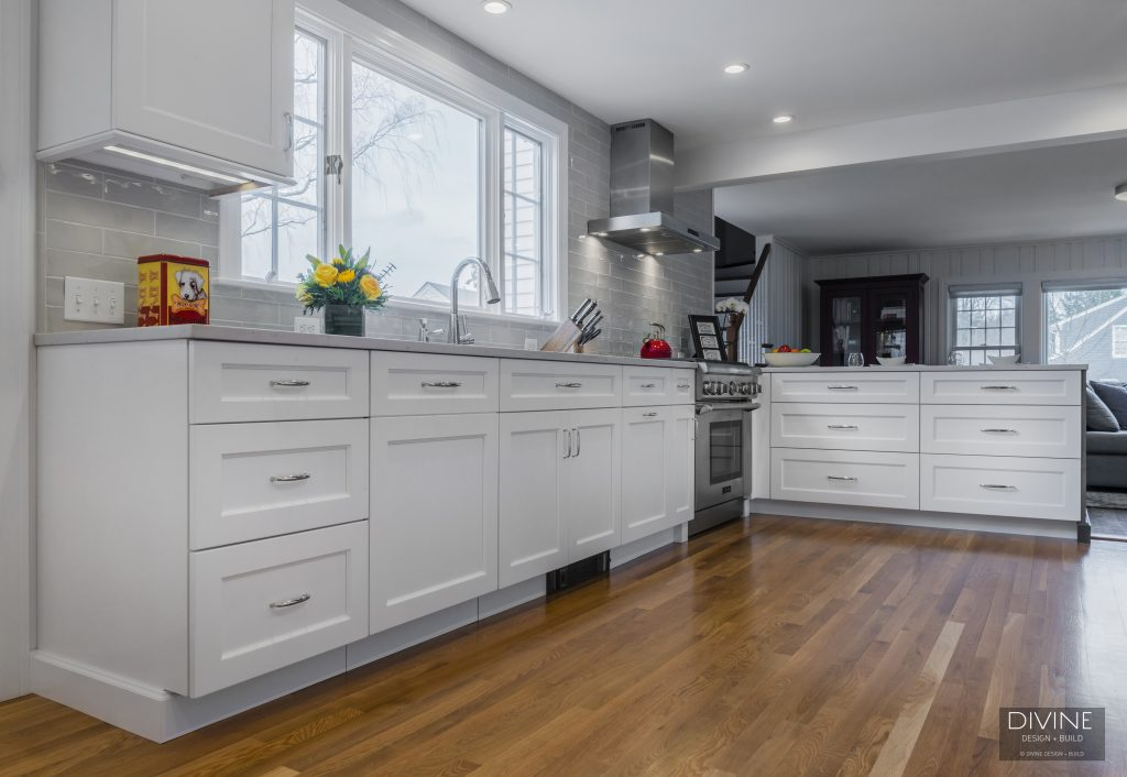 transitional kitchen design - shaker style cabinetry