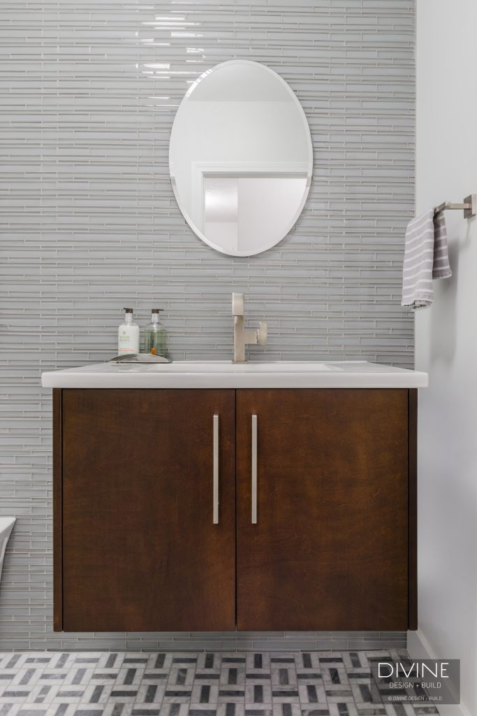 powder room renovation - modern