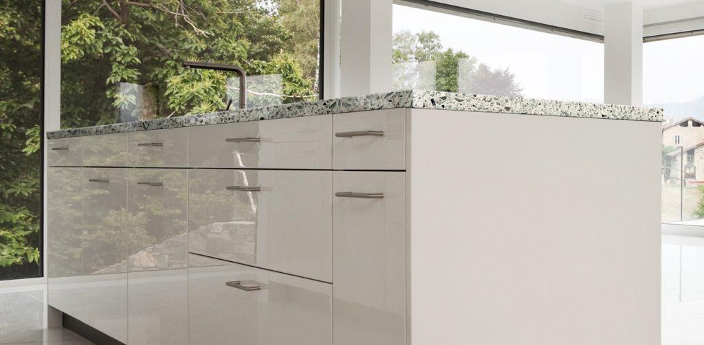 eco-friendly vetrazzo kitchen countertops
