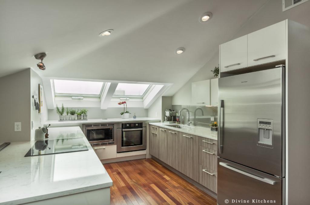 non white kitchen