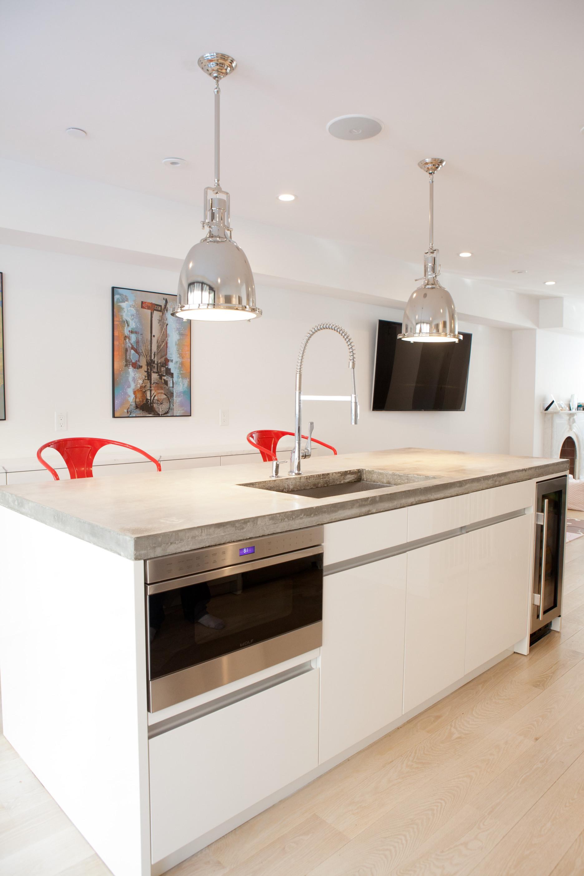Boston South End Contemporary Kitchen Divine Design Build