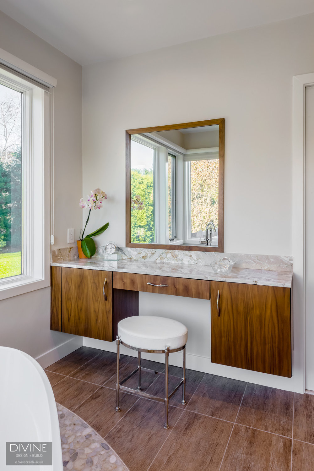 Boston Lincoln Contemporay Transitional Bathroom Divine Design Build