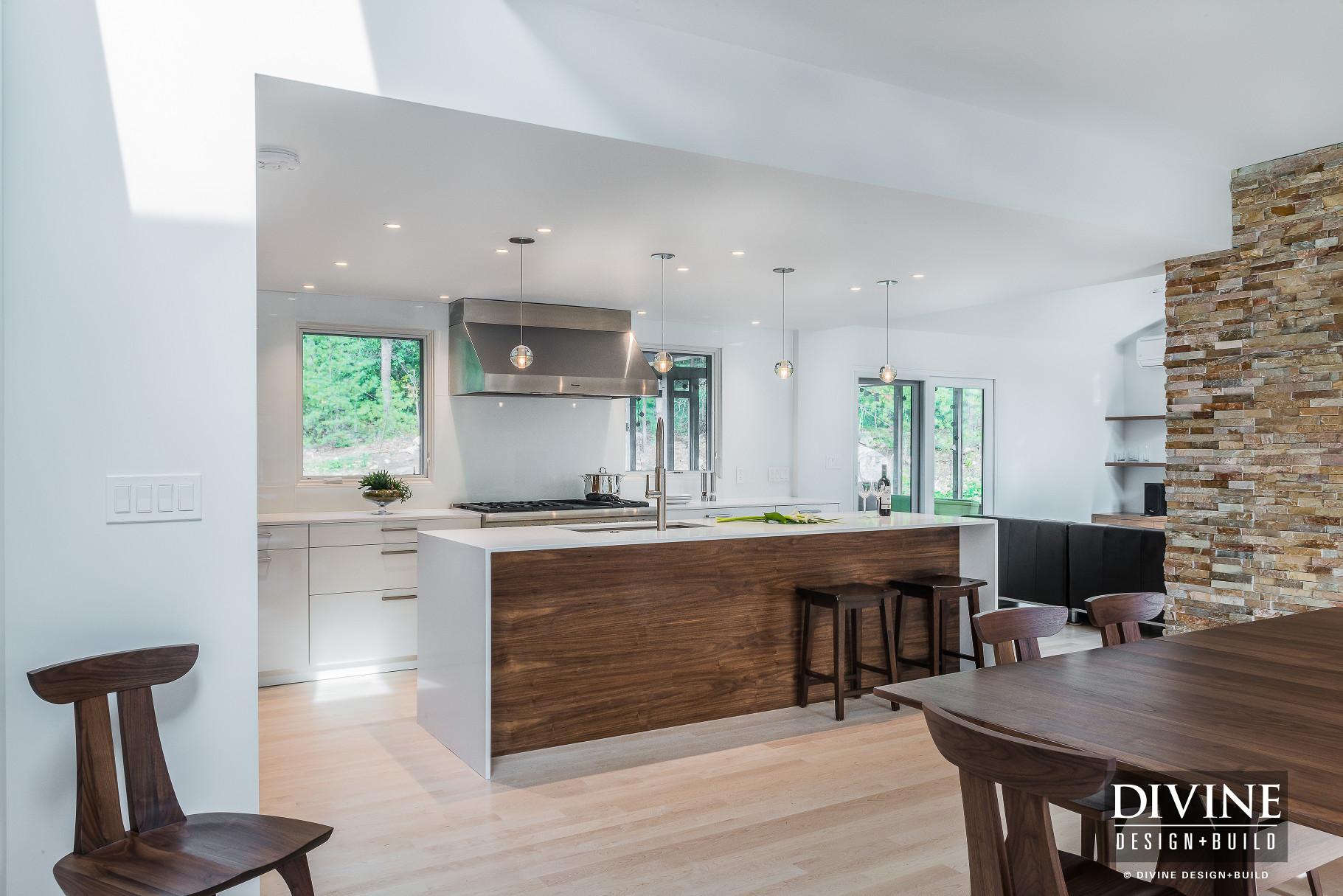 Boston Bedford Contemporary Kitchen Wood Accents Divine Design Build