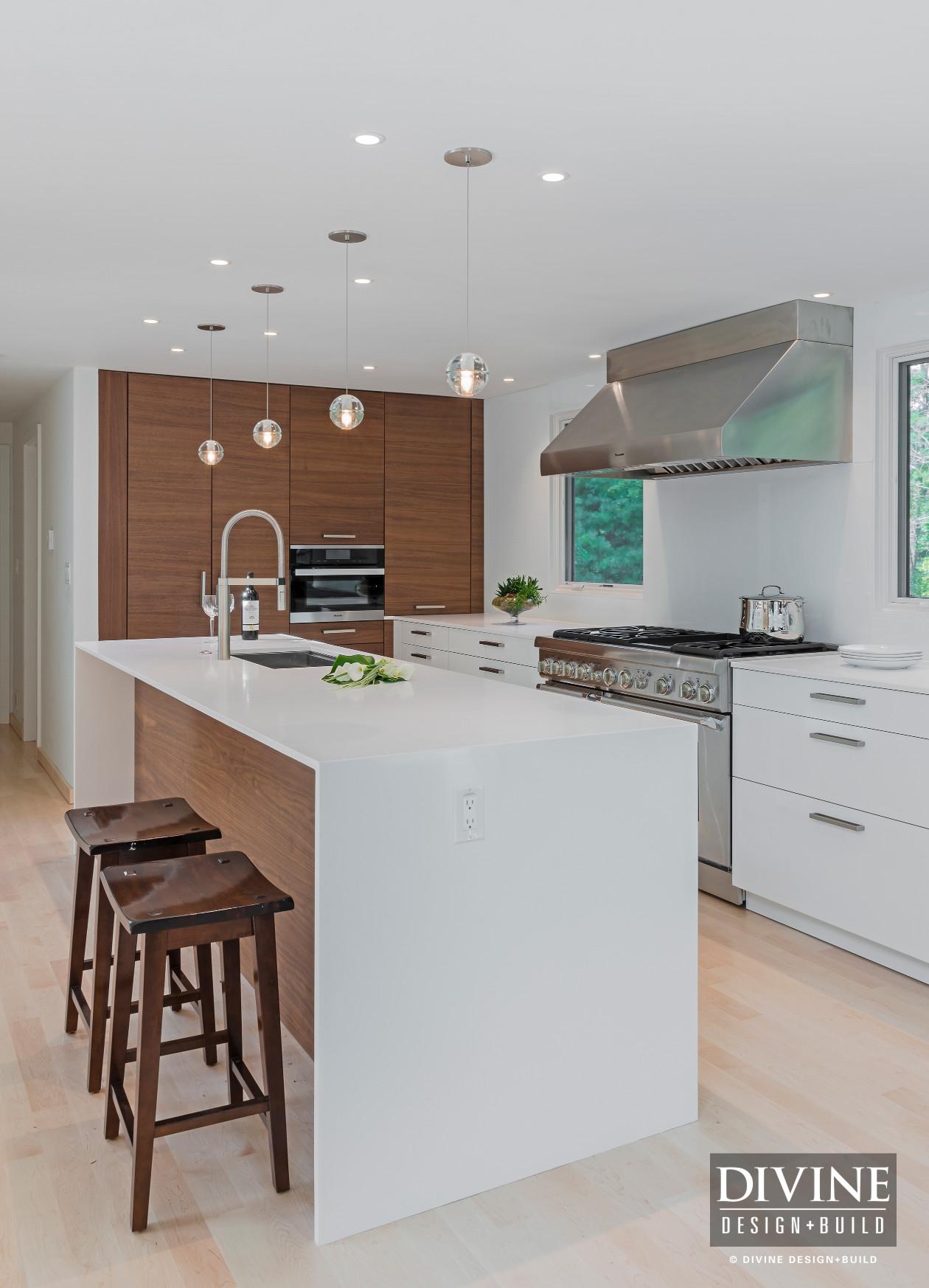 Boston Bedford Contemporary Kitchen Wood Accents Divine