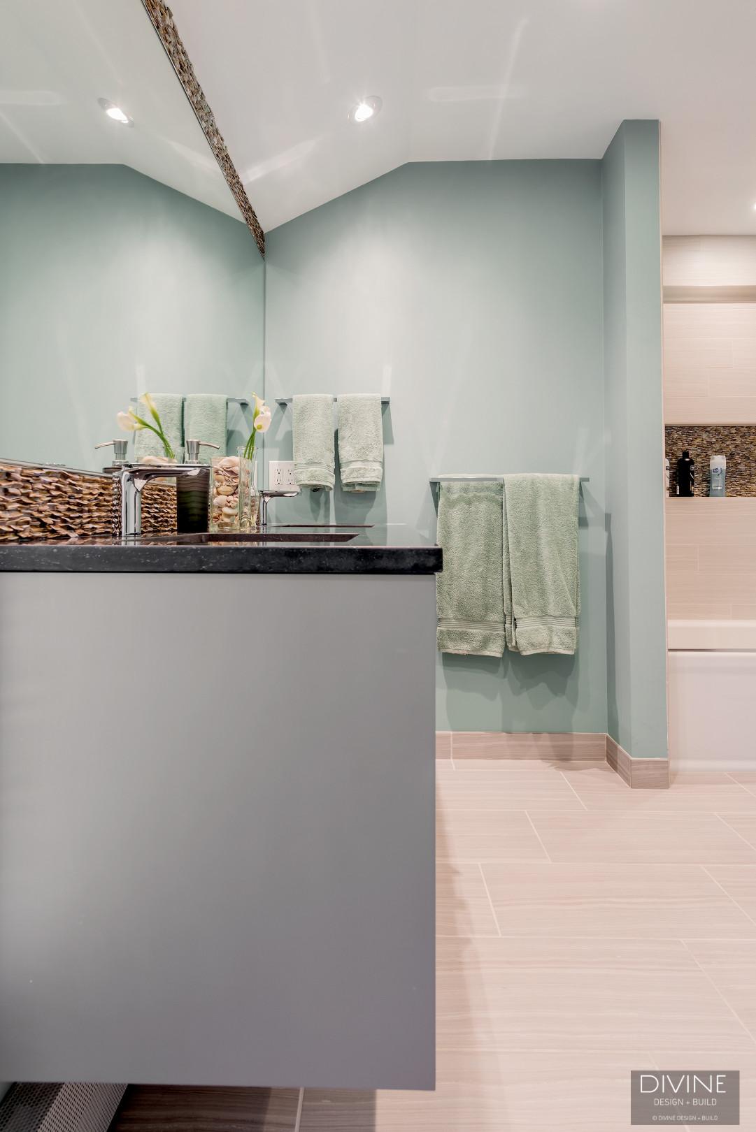 Boston Weston Contemporary Transitional Master Bathroom Suite Divine Design Build