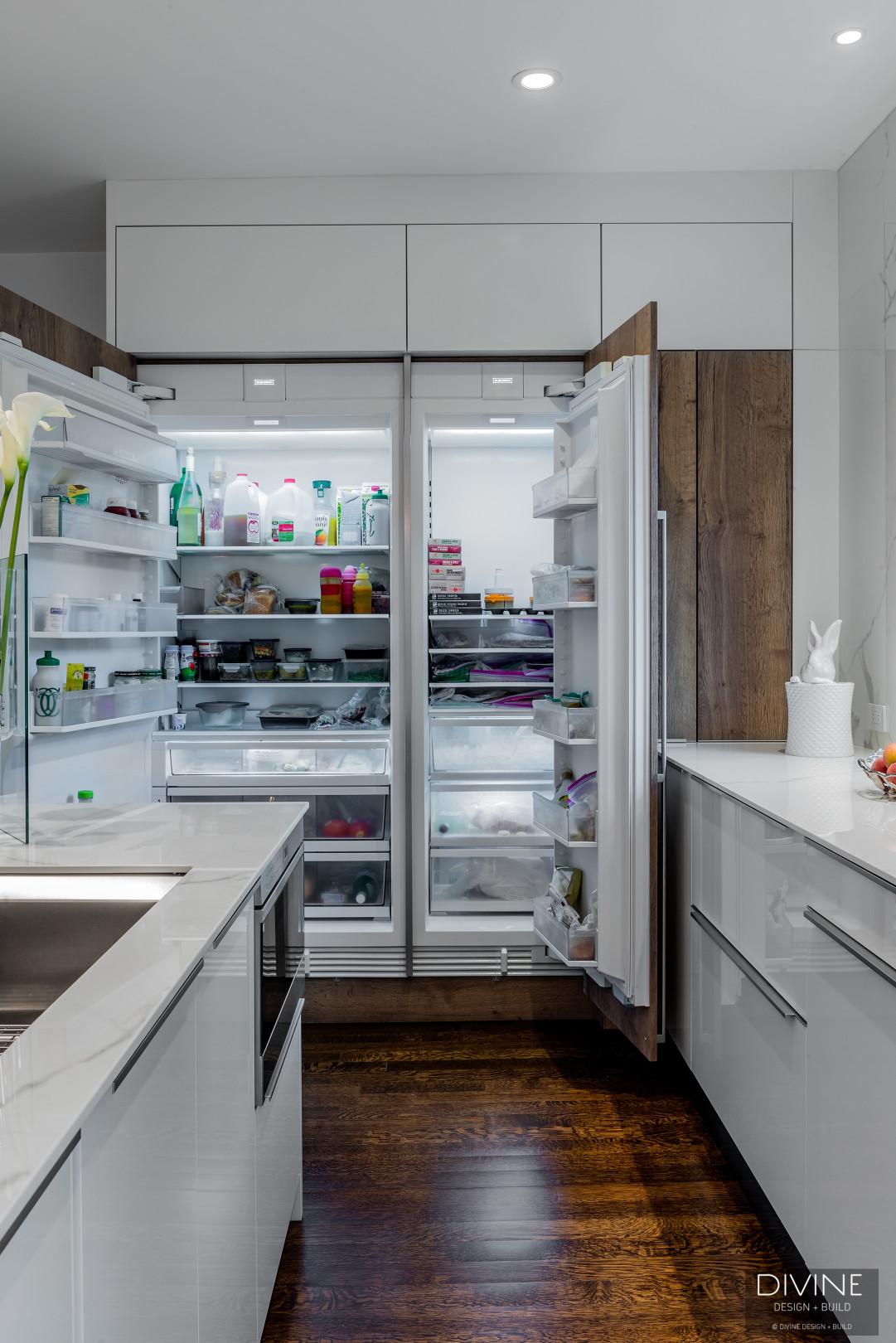 Boston Brookline Modern Contemporary Leicht Kitchen Walnut