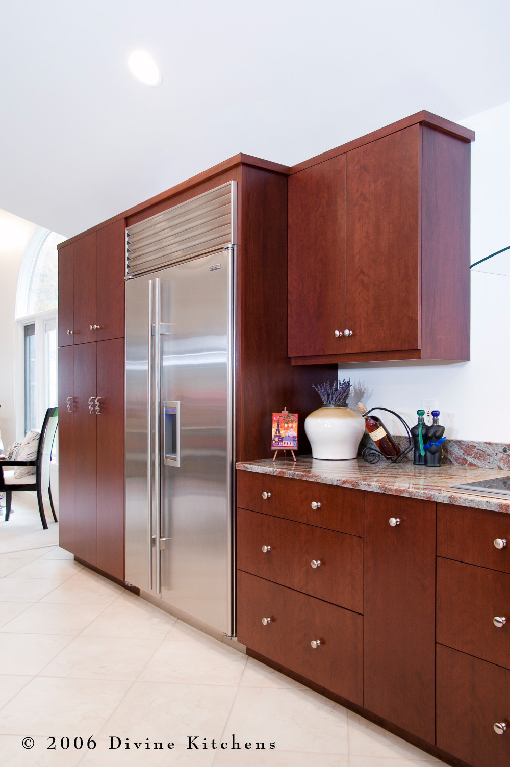 Boston Metrowest Modern Contemporary Cherry Kitchen — Divine ...