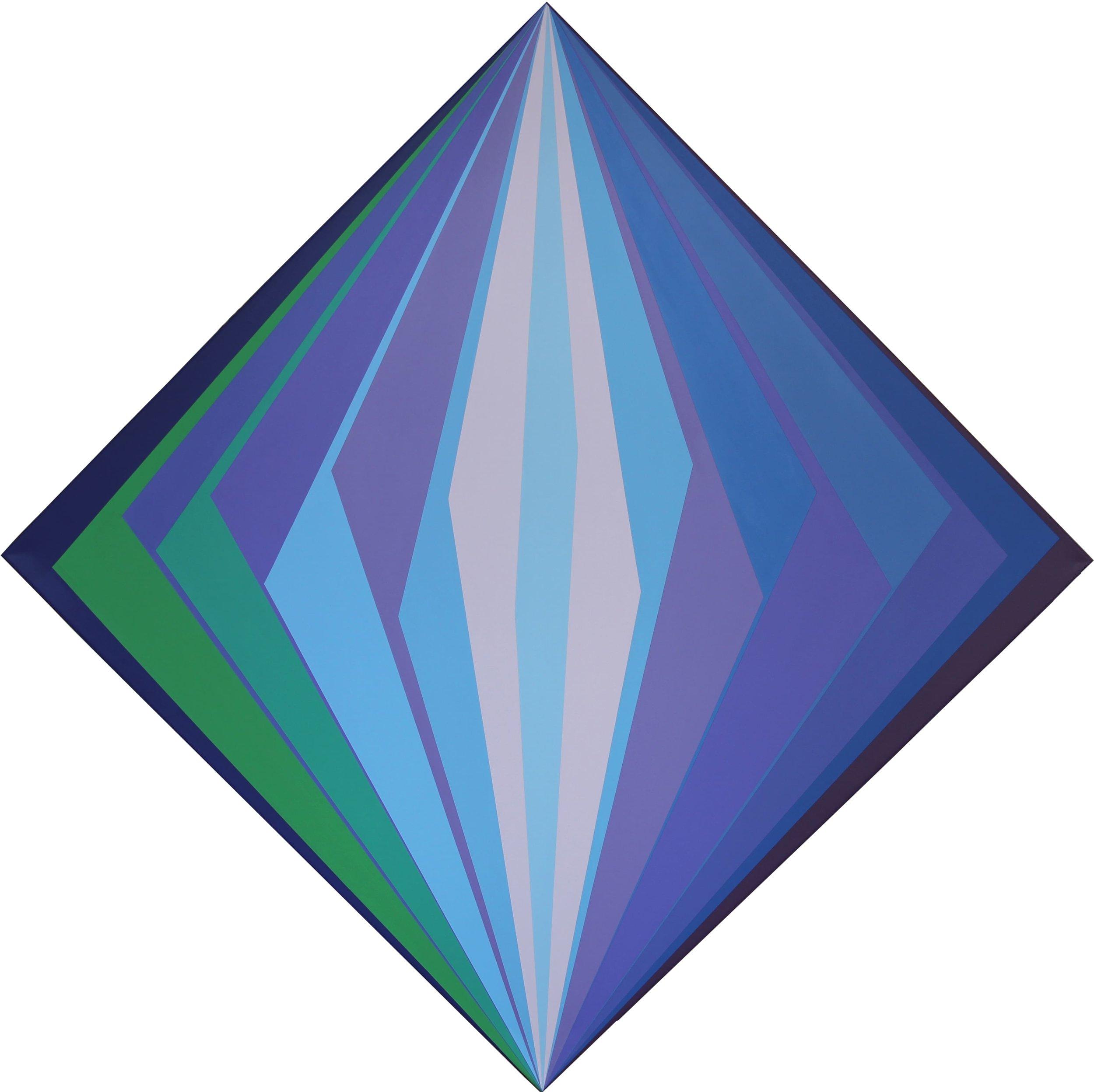 Geometric Composition, Acrylic Paint on Canvas, 2019